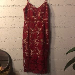 New Look Premium Red Lace Dress.